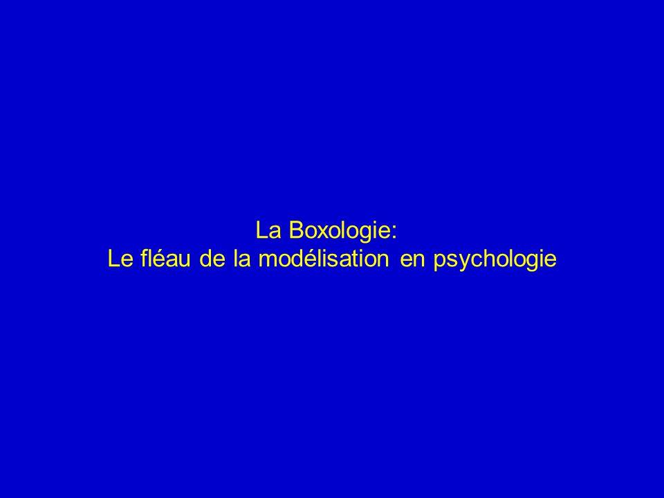 Le fléau de la modélisation en psychologie