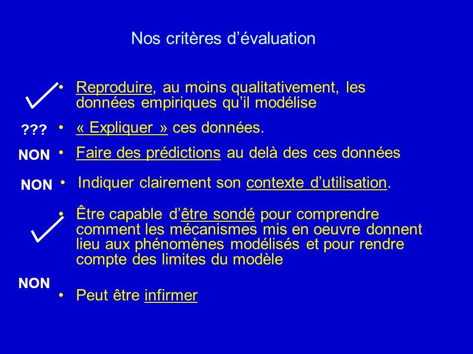 Nos critères d'évaluation