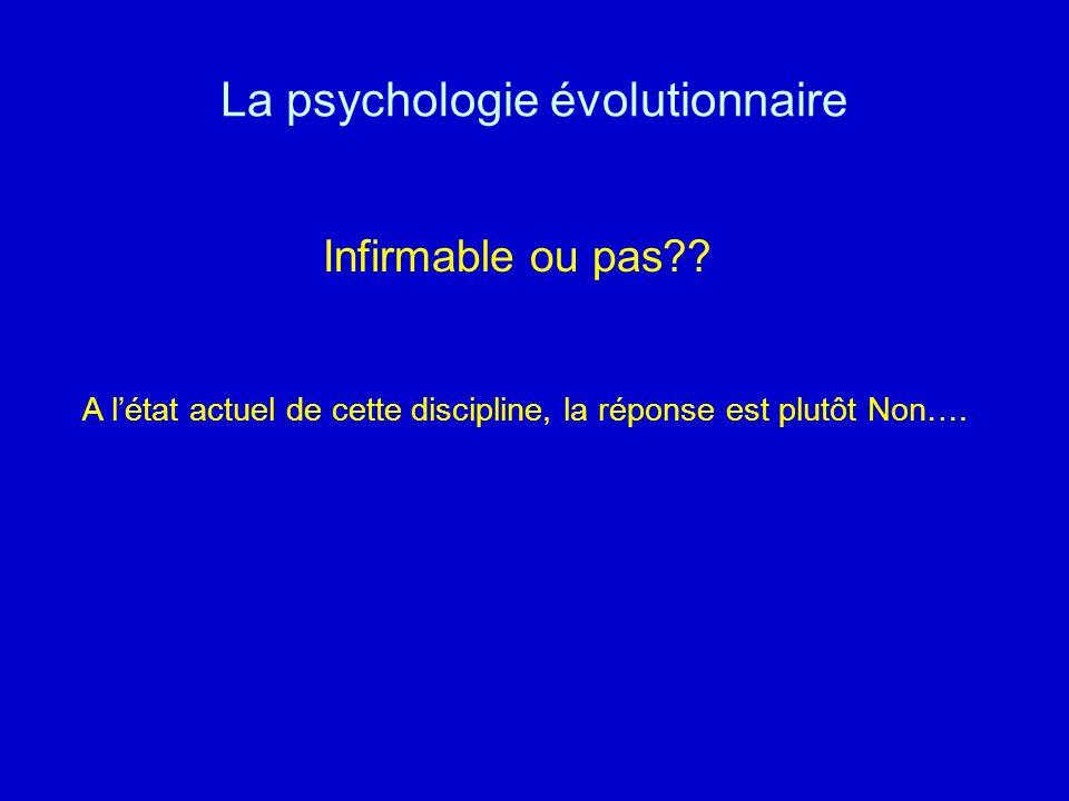 La psychologie évolutionnaire