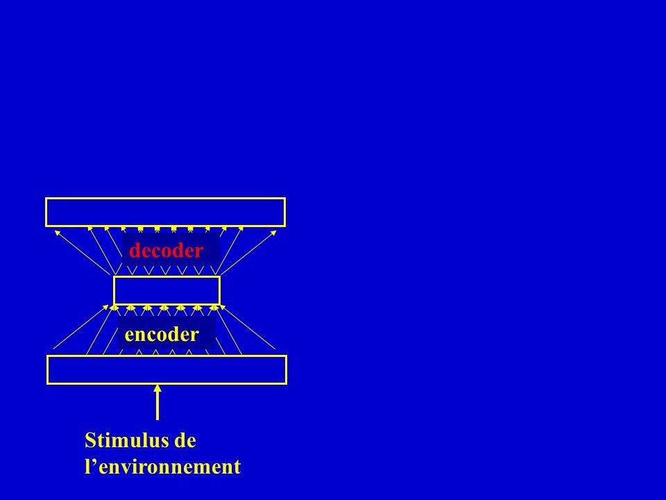 decoder encoder Stimulus de l'environnement