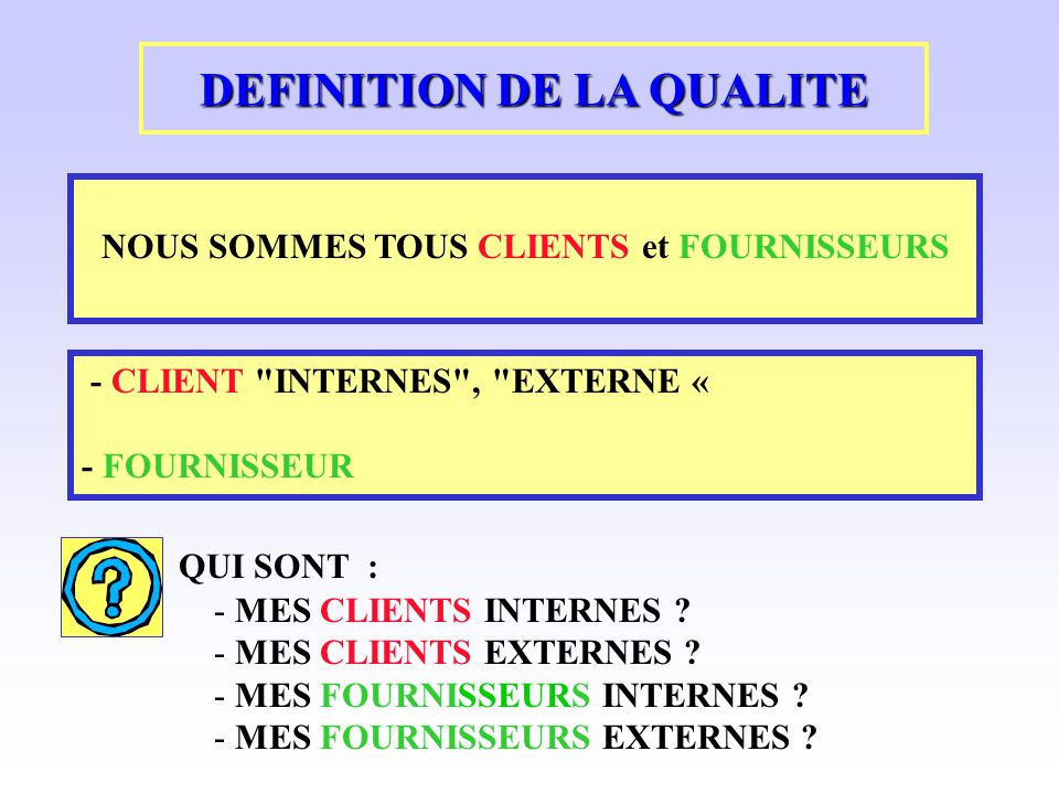 la qualite dans l entreprise ppt video online t l charger On qualite architecturale definition
