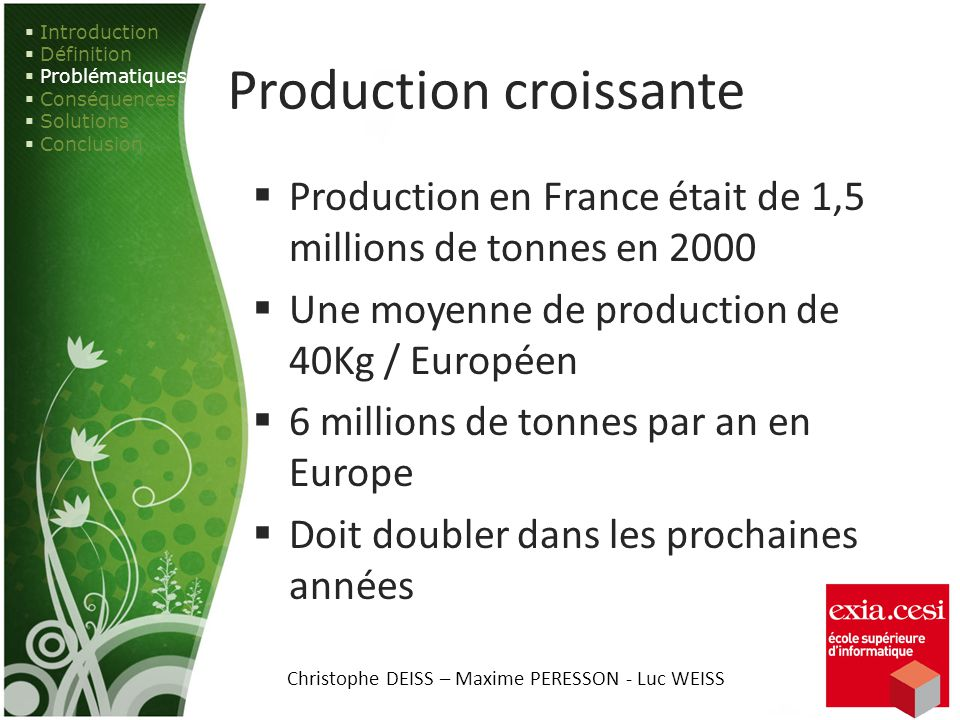 Production croissante