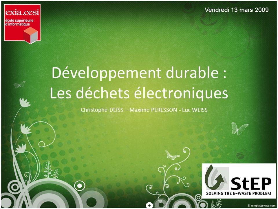 Développement durable : Les déchets électroniques