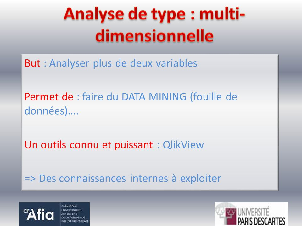 Analyse de type : multi-dimensionnelle