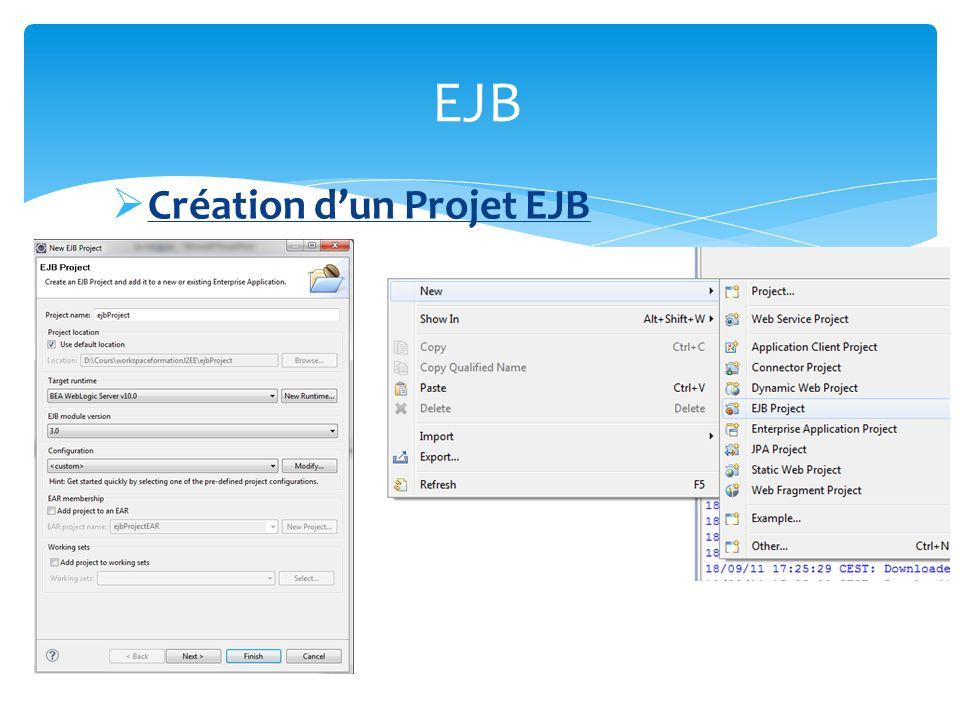 EJB Création d'un Projet EJB