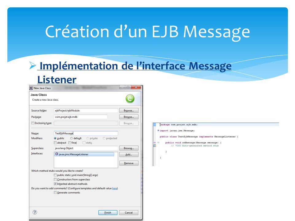 Création d'un EJB Message