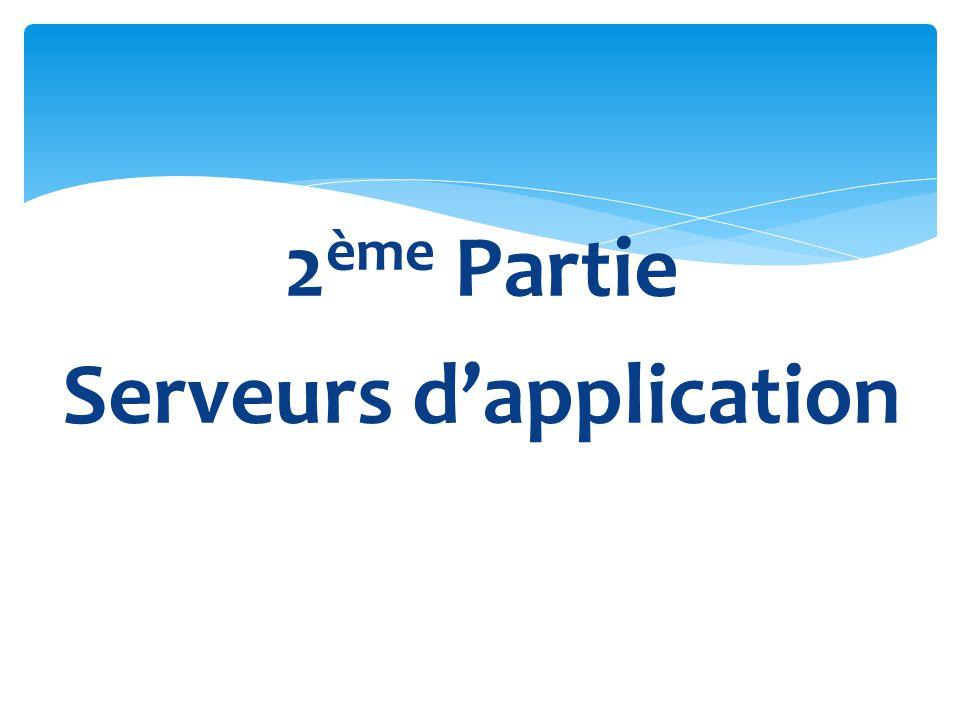 2ème Partie Serveurs d'application