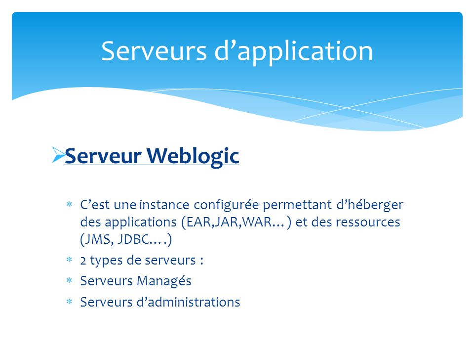 Serveurs d'application
