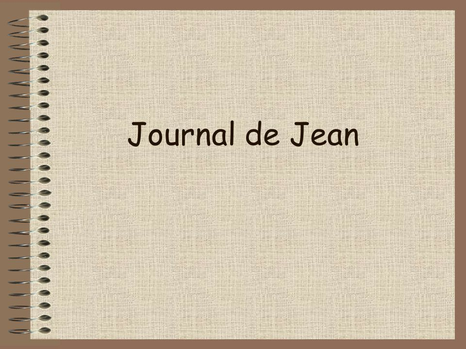 Journal de Jean