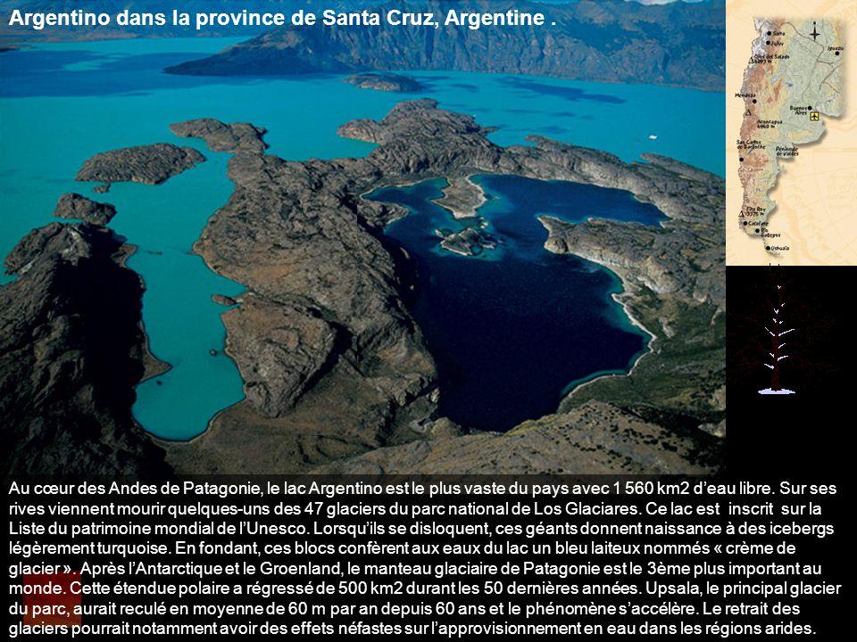 Argentino dans la province de Santa Cruz, Argentine .