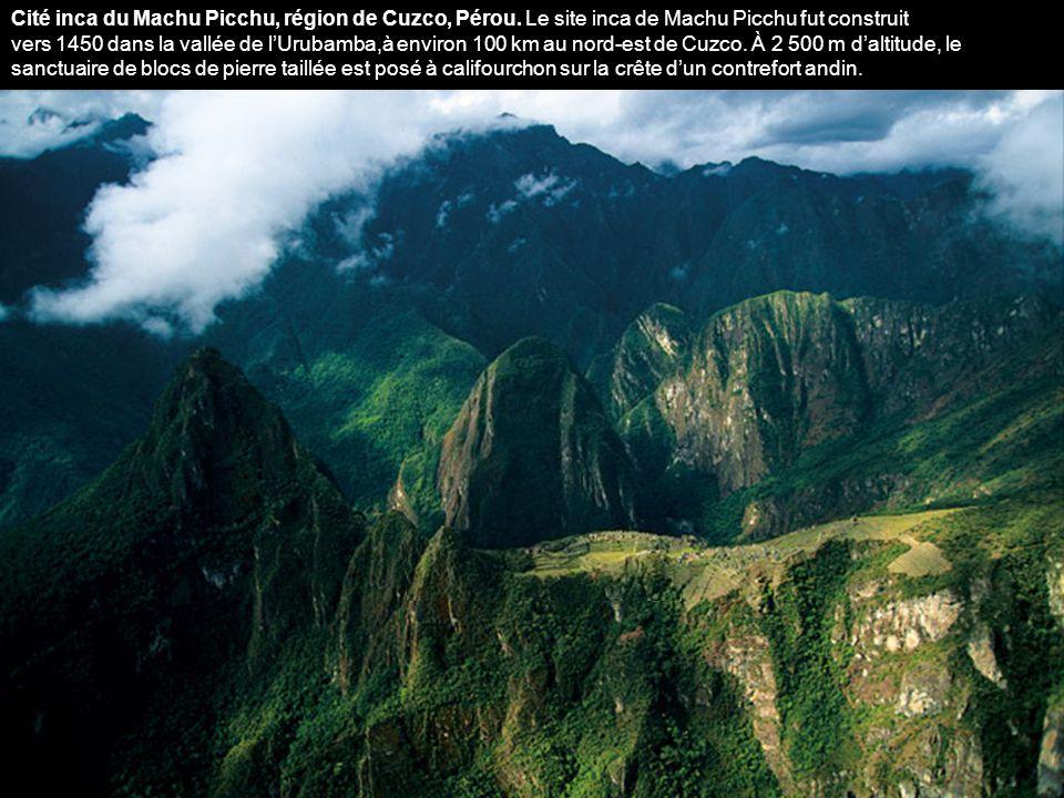 Cité inca du Machu Picchu, région de Cuzco, Pérou