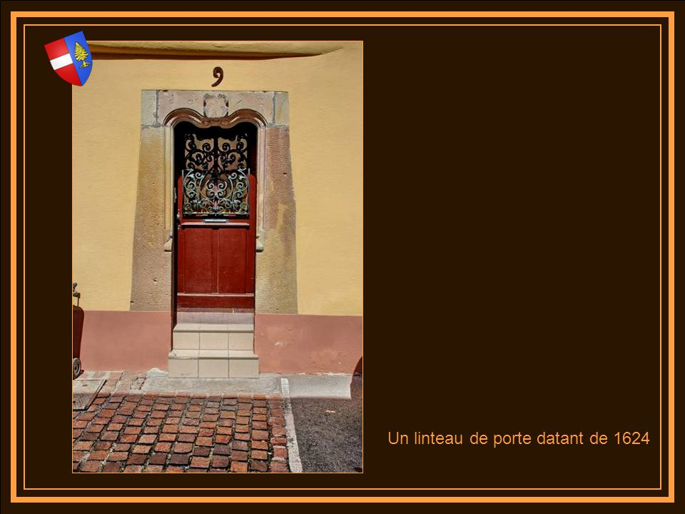 NO ME QUIERES Un linteau de porte datant de 1624