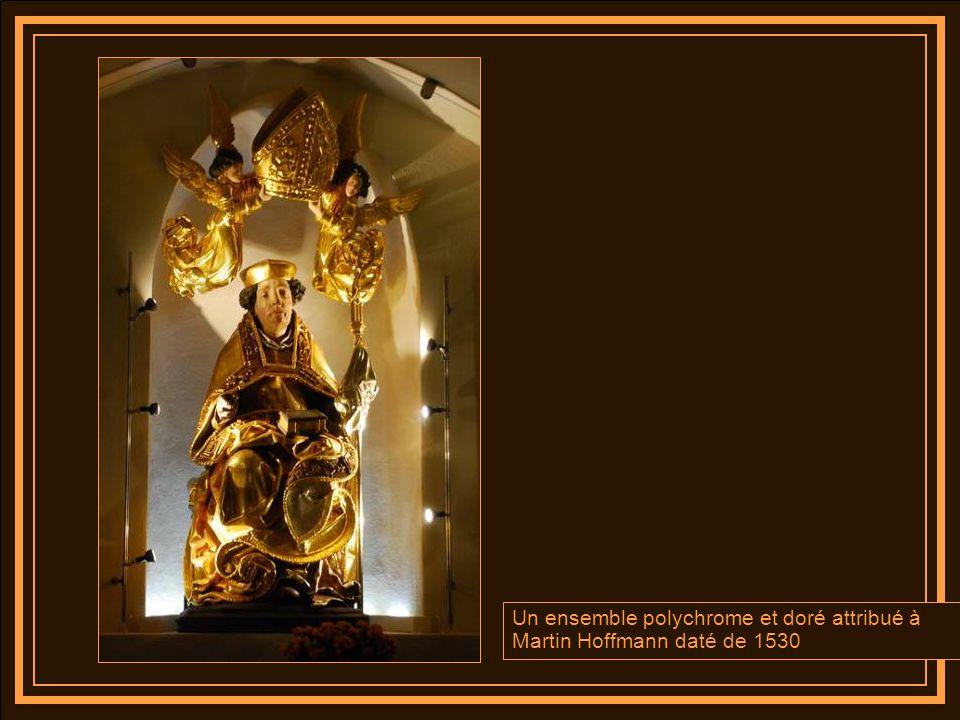 Un ensemble polychrome et doré attribué à Martin Hoffmann daté de 1530