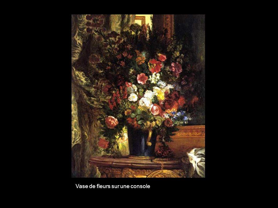 Vase de fleurs sur une console