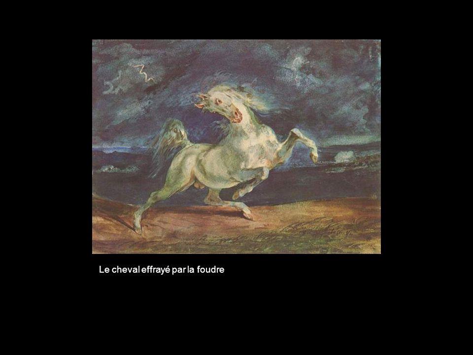 Le cheval effrayé par la foudre