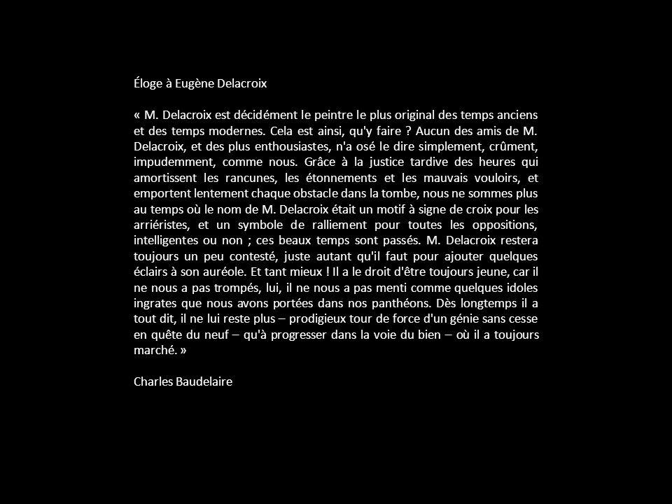 Éloge à Eugène Delacroix