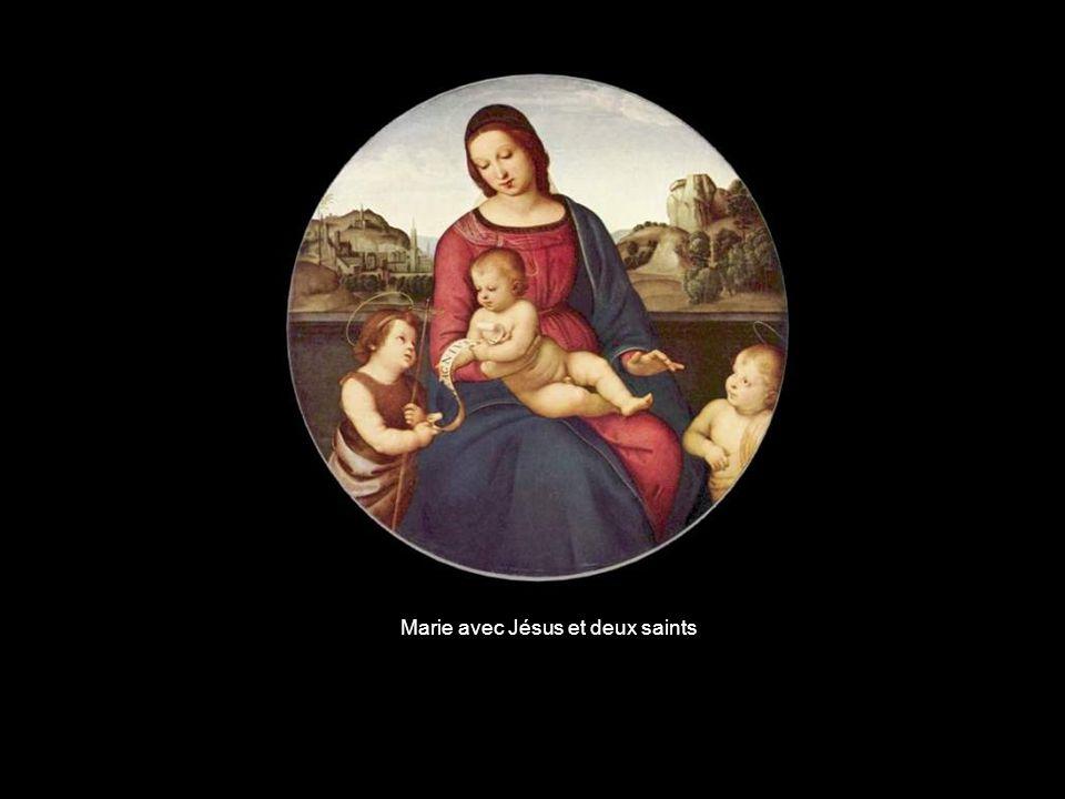 Marie avec Jésus et deux saints