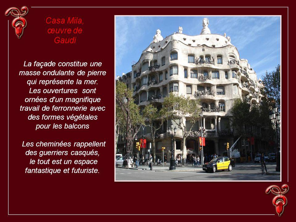Casa Mila, œuvre de Gaudi