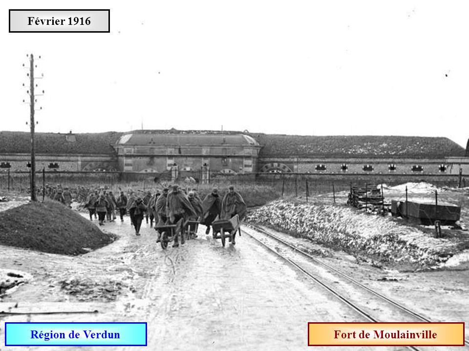 Février 1916 Région de Verdun Fort de Moulainville