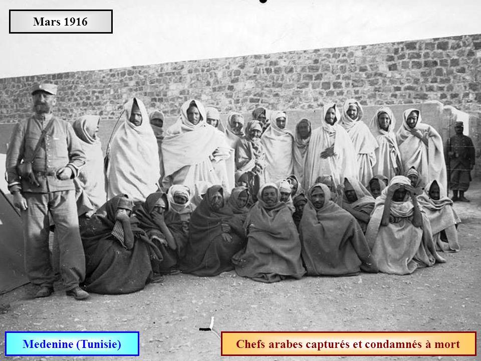Chefs arabes capturés et condamnés à mort