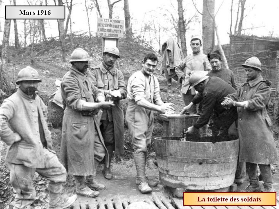 La toilette des soldats