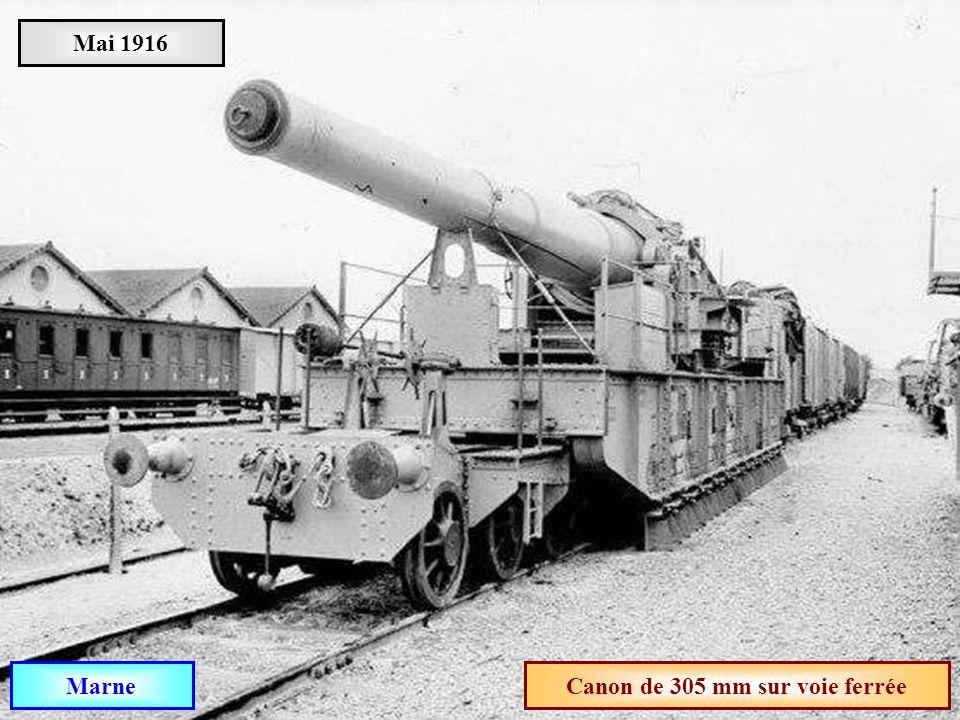 Canon de 305 mm sur voie ferrée
