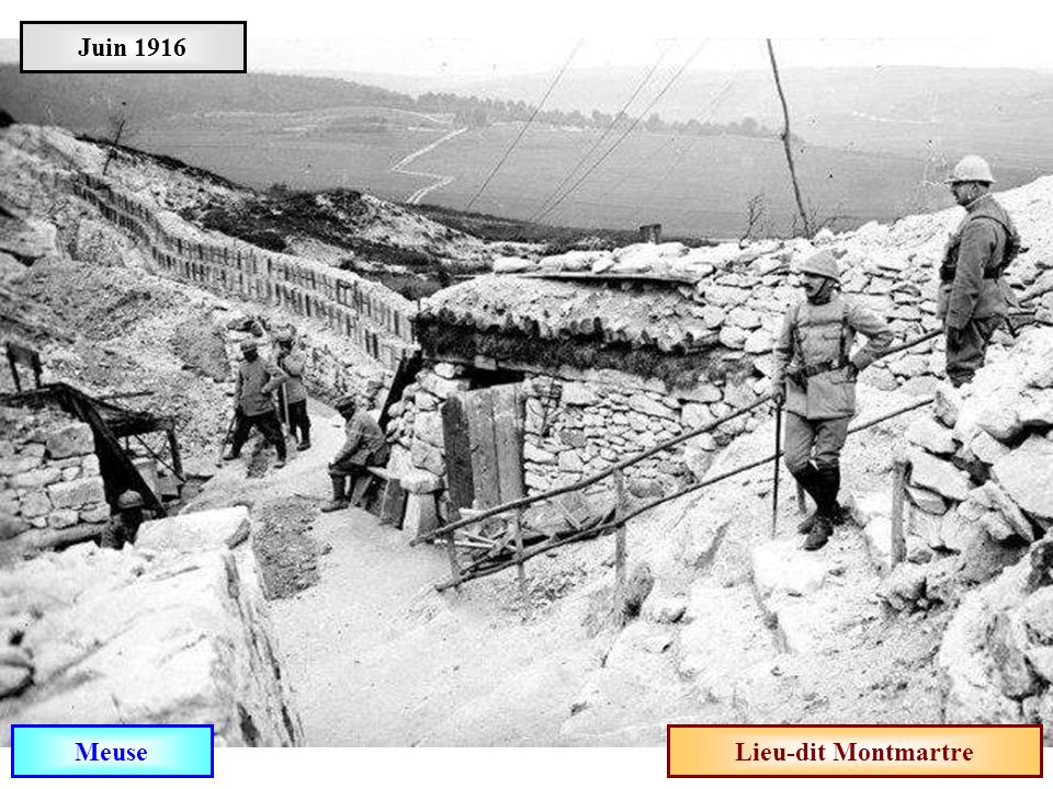 Juin 1916 Meuse Lieu-dit Montmartre