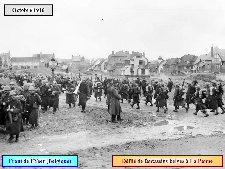 Front de l'Yser (Belgique) Défilé de fantassins belges à La Panne