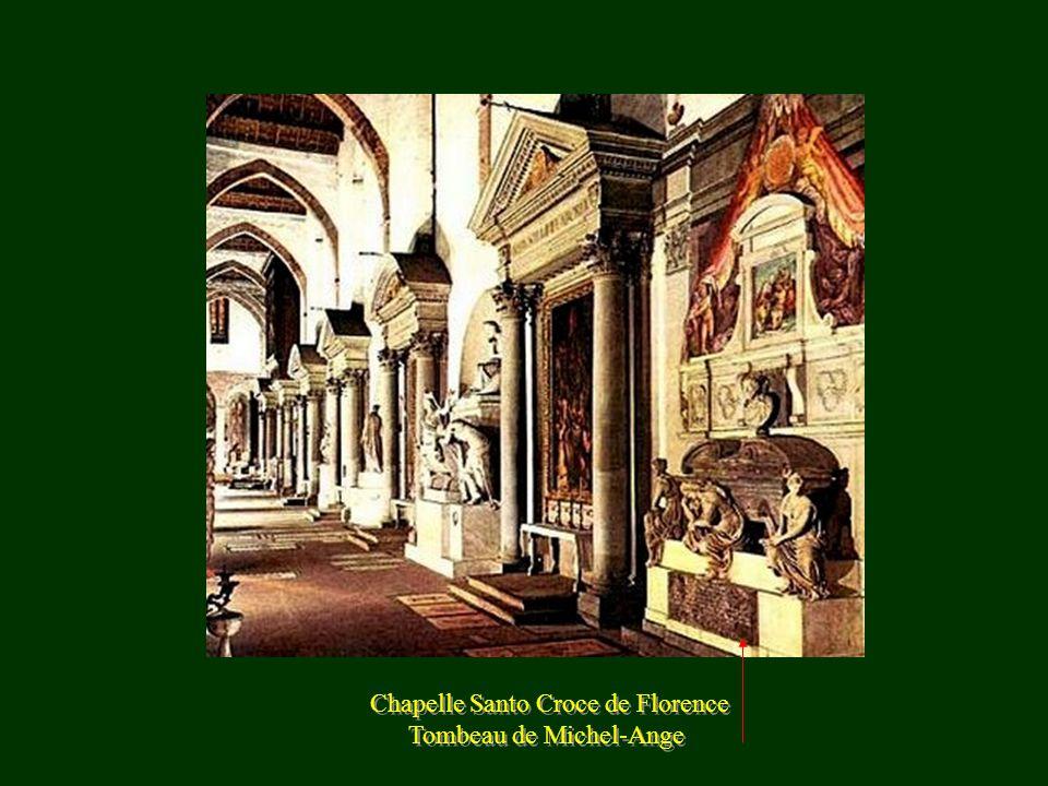 Chapelle Santo Croce de Florence Tombeau de Michel-Ange