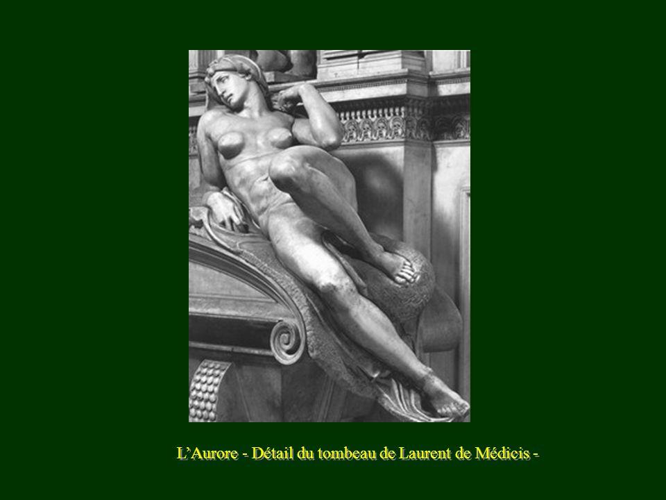 L'Aurore - Détail du tombeau de Laurent de Médicis -