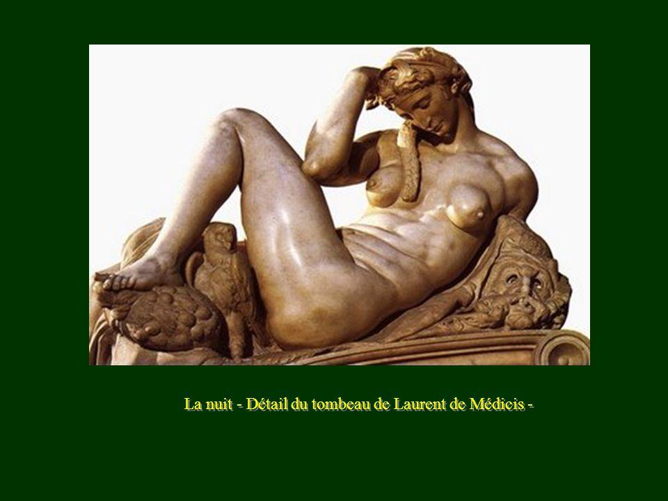 La nuit - Détail du tombeau de Laurent de Médicis -
