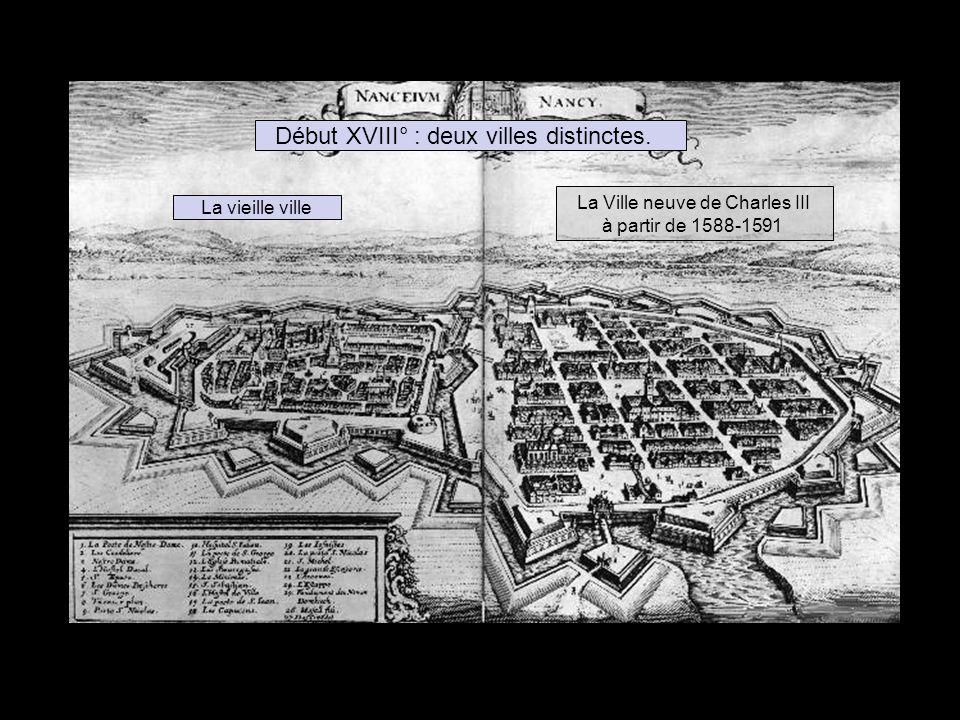 Début XVIII° : deux villes distinctes.