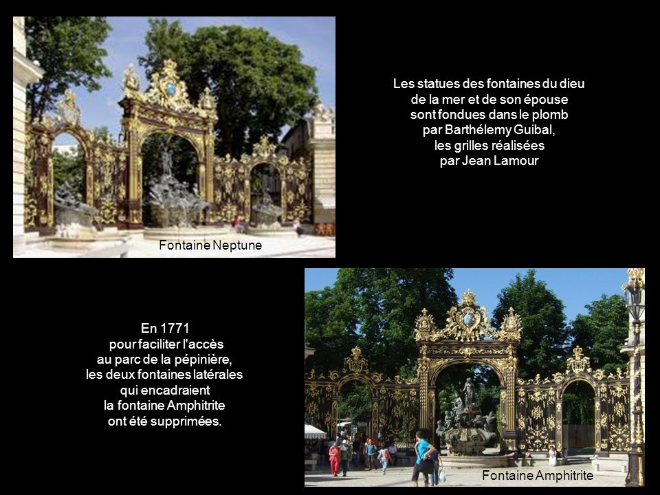 Les statues des fontaines du dieu