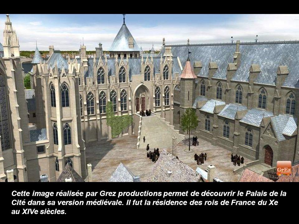 Cette image réalisée par Grez productions permet de découvrir le Palais de la Cité dans sa version médiévale.