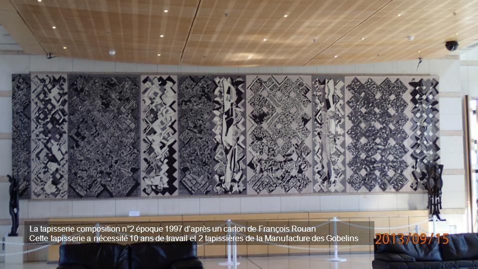 La tapisserie composition n°2 époque 1997 d'après un carton de François Rouan