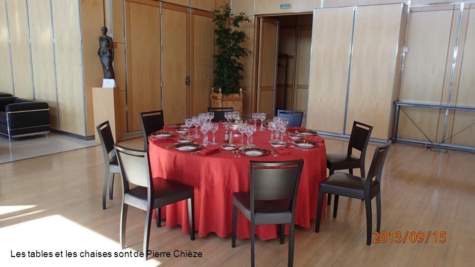 Les tables et les chaises sont de Pierre Chièze