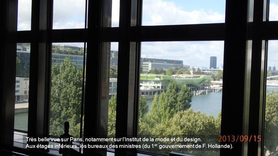 Très belle vue sur Paris, notamment sur l'Institut de la mode et du design.