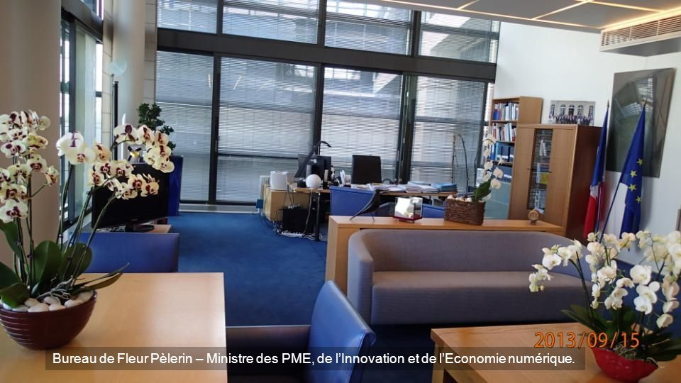 Bureau de Fleur Pèlerin – Ministre des PME, de l'Innovation et de l'Economie numérique.