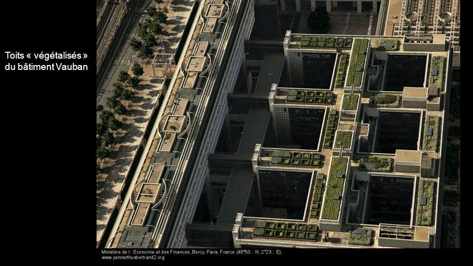 Toits « végétalisés » du bâtiment Vauban