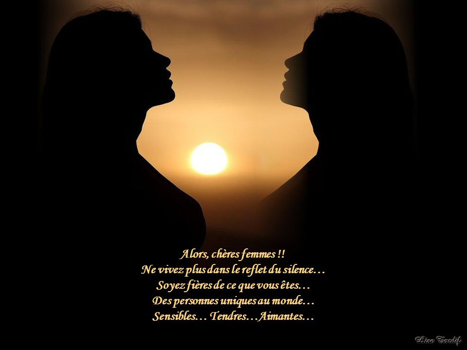 Ne vivez plus dans le reflet du silence…