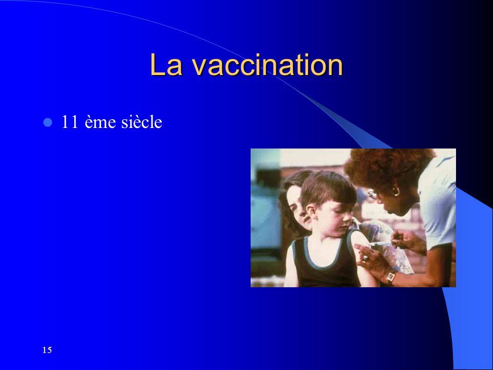 La vaccination 11 ème siècle 15