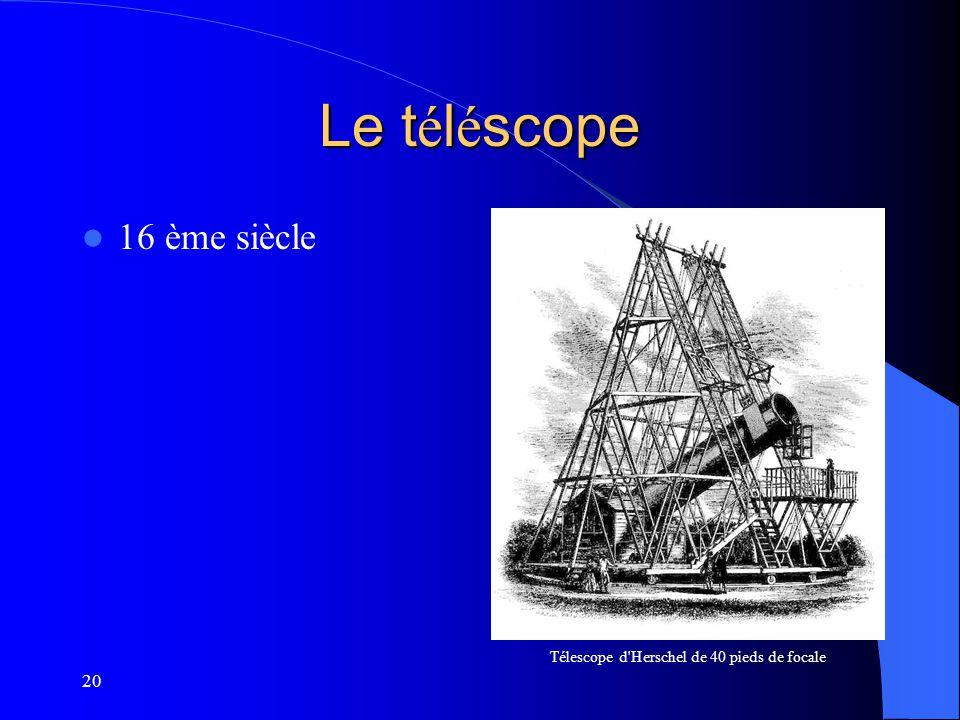 Télescope d Herschel de 40 pieds de focale