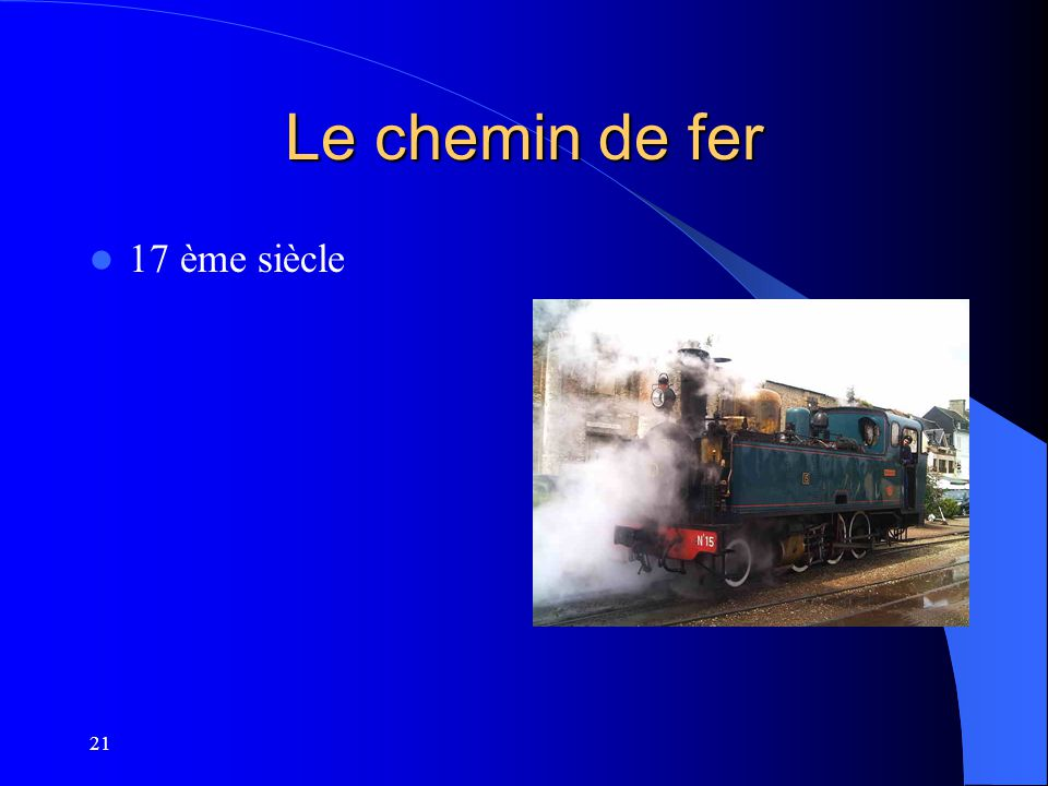 Le chemin de fer 17 ème siècle 21