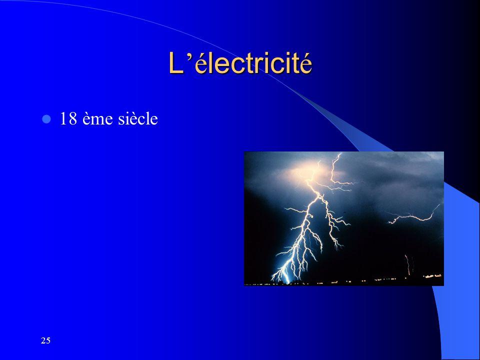 L'électricité 18 ème siècle 25