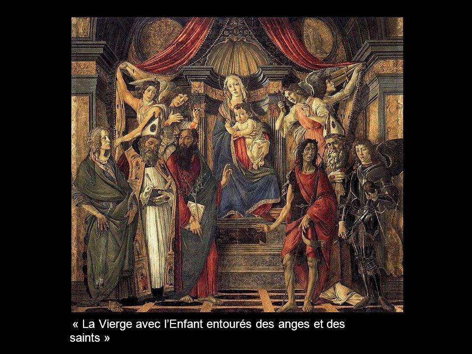 « La Vierge avec l'Enfant entourés des anges et des saints »