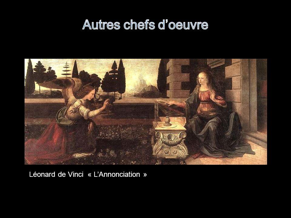 Autres chefs d'oeuvre Léonard de Vinci « L'Annonciation »