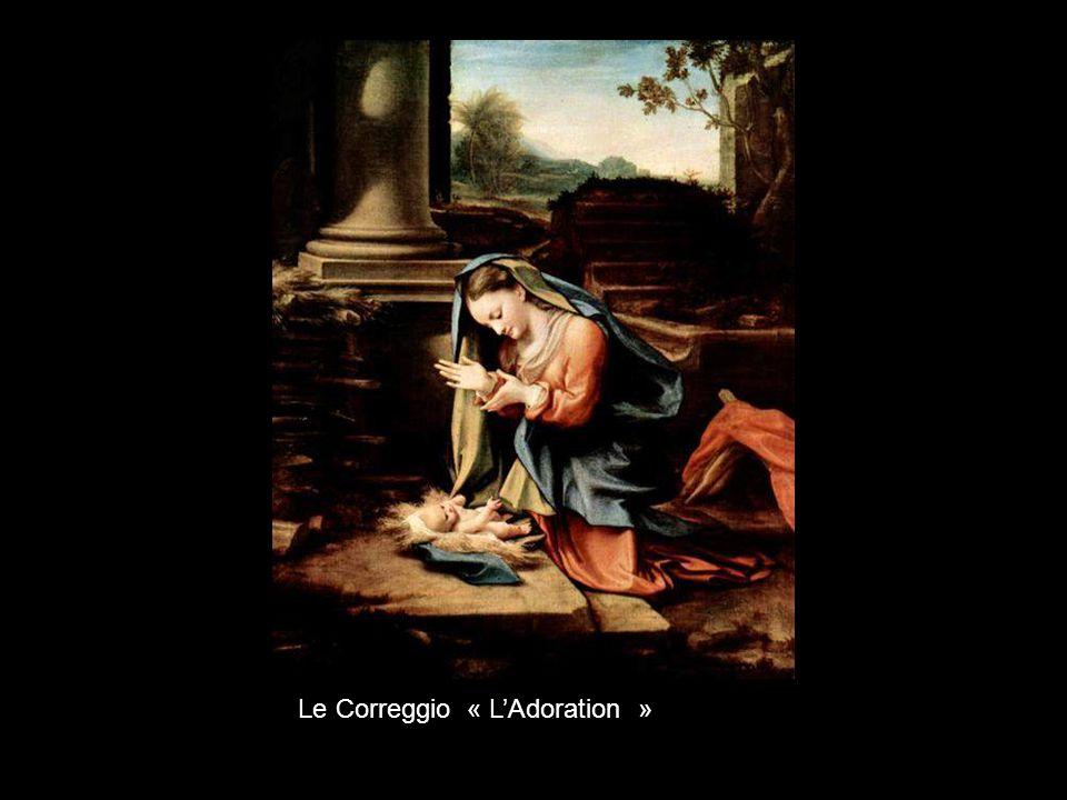 Le Correggio « L'Adoration »