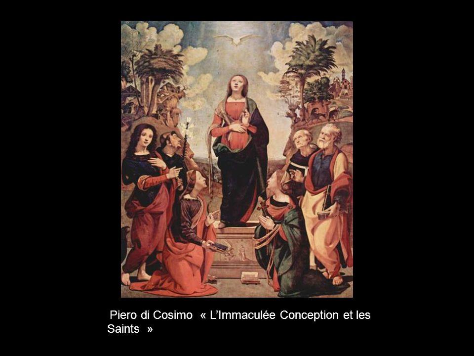 Piero di Cosimo « L'Immaculée Conception et les Saints »