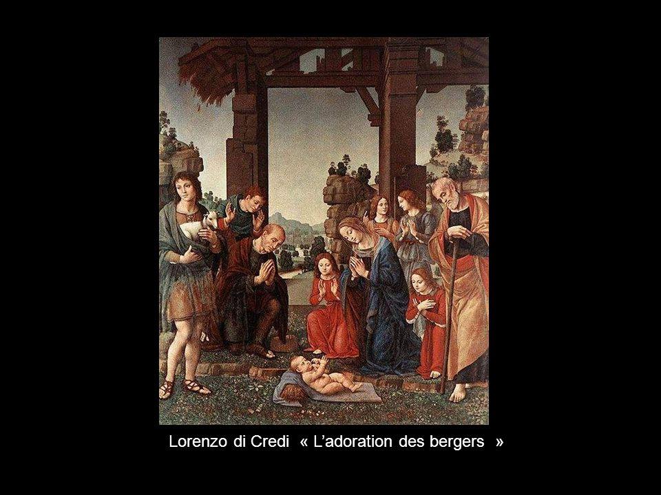 Lorenzo di Credi « L'adoration des bergers »