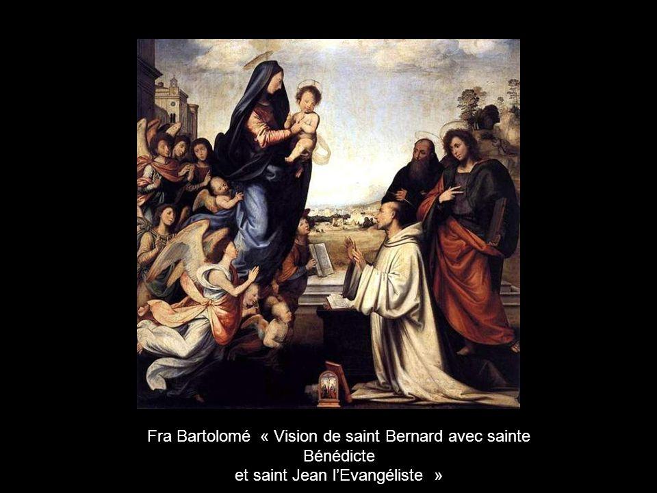 Fra Bartolomé « Vision de saint Bernard avec sainte Bénédicte